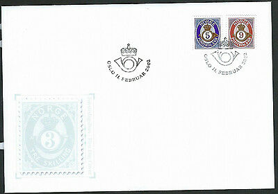 Norway 2002 Posthorn set on unaddressed official first day cover
