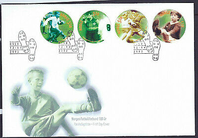 Norway 2002 Football Association set on unaddressed official first day cover