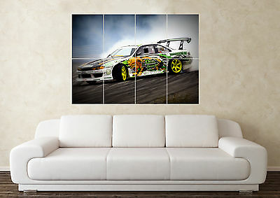 Large Nissan 200sx S15 S13 S14 Silvia DET Drift RB Wall Poster Art Picture Print