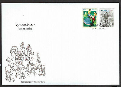 Norway 2002 Fairytale Charcters set on unaddressed official first day cover
