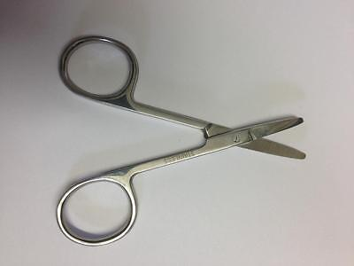 "3.5"" Round Tip Safety Scissors Baby Nails/Moustache/Nose & Hair"