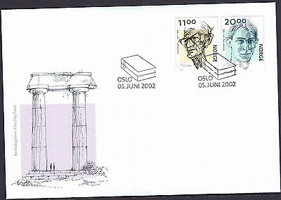 Norway 2002 Writers Centenaries set on unaddressed official first day cover