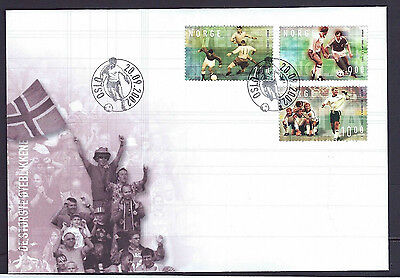 Norway 2002 Football set on 2 unaddressed official first day covers