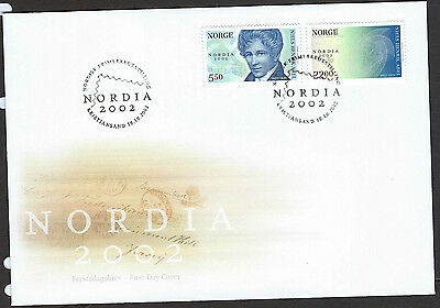 Norway 2002 Nordia 2002 opt on Abel set on unaddressed official first day cover