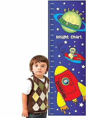 Personalised Boys Height Chart - 5 Designs - Free Delivery