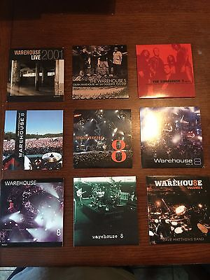 Dave Matthews Band Warehouse Fan Club 8 and 10 Track Complete Set