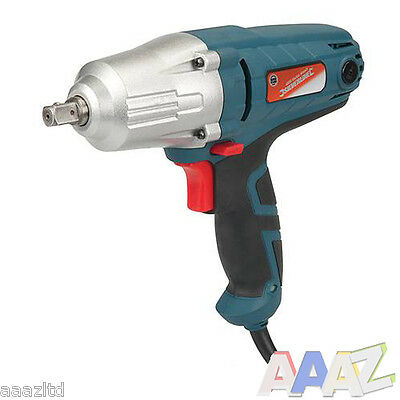 """400w ELECTRIC 1/2"""" IMPACT WRENCH 230 Volts silverline torque socket"""