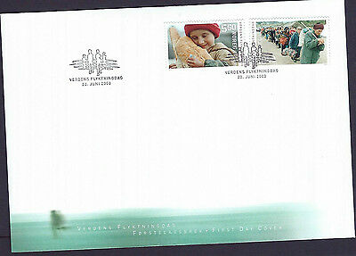 Norway 2003 World Refugee Day set on unaddressed official first day cover