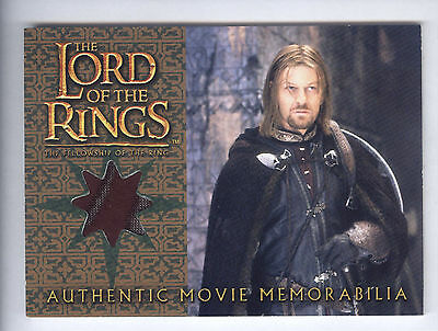 2002 Lord Of The Rings Fellowship Of The Ring Update Boromir's Cloak Relic Card