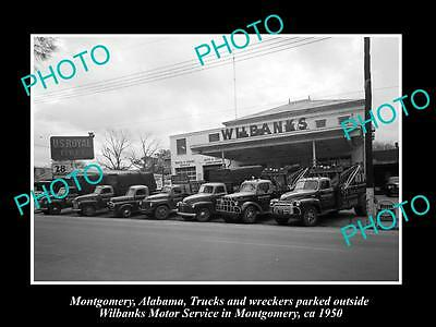 OLD LARGE HISTORIC PHOTO OF MONTGOMERY ALABAMA, THE WILBANKS MOTOR GARAGE 1950 2