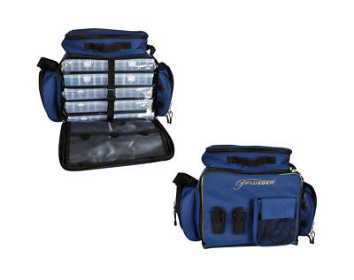 Pflueger Supreme Large Fishing Tackle Bag with 5 Tackle Boxes & Multiple Pockets