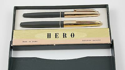 ANTIQUE VINTAGE CHINESE SET HERO FOUNTAIN PEN NEW OLD STOCK BOX