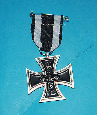 German Iron Embossed Cross With Ribbon (R1)
