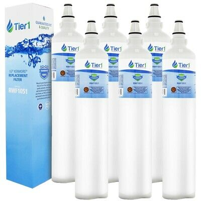 Fits Tier1 LT600P 5231JA2006A 5231JA2006B – LG Comparable Water Filter 6 Pack