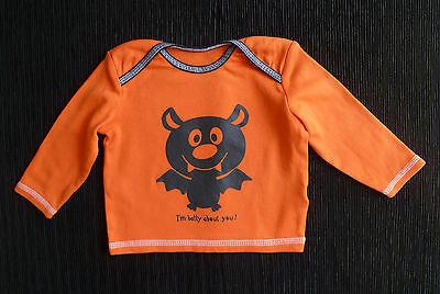 Baby clothes BOY GIRL 3-6m George Bat Halloween orange top long sleeve SEE SHOP!
