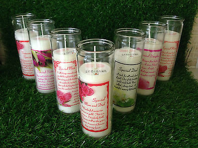 SPECIAL MEMORIAL CANDLE - Grave Garden Loved One Memory Verse