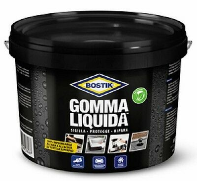 BOSTIK GOMMA LIQUIDA ML 750 cod. 86342  1 pz color nero