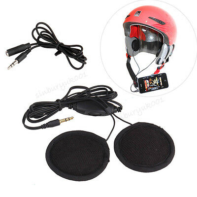 Motorcycle In-helmet Stereo Headphone Earphone Volume Control for iPhone Samsung