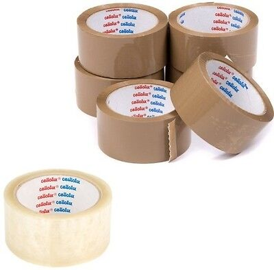 Packing Parcel Adhesive Tape - Brown / Clear Cellfoix 48 mm x 66 m
