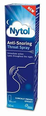 Nytol Anti-Snoring Throat Spray Easy to Use 50ml - FAST DELIVERY!!