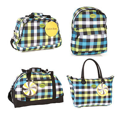 Highbury Cabin size approved green box Design Patterned  holdall Travel  Bags