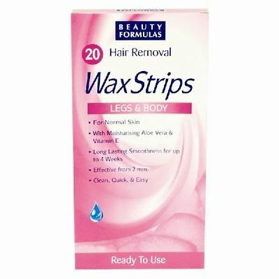 Women Hair Removal 20 Wax Strips For Legs & Body Ready to use FAST DELIVERY