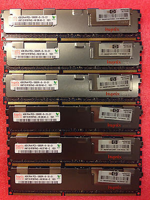 NEW 24gb 6x4GB Memory For HP Workstation Z800 & Z600 C2 Revision Only 1 YEAR
