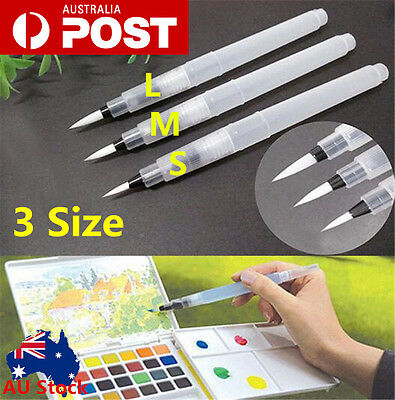 3 Size Refillable Pilot Water Brush Ink Pen for Paint Calligraphy Watercolor Set