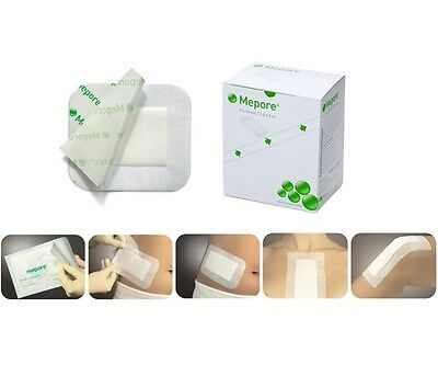 Mepore Adhesive First Aid dressing for cuts burns wounds 7cm x 8cm (x5)