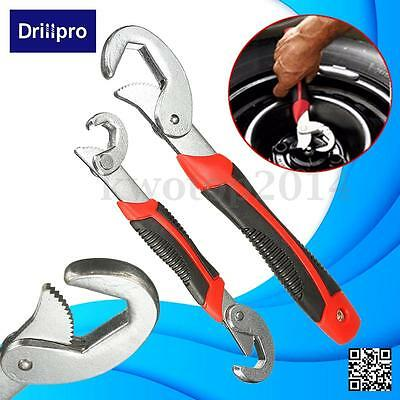 Drillpro 2Pcs Multi-function Quick  Snap'N Grip Universal Wrench Spanner Set Hot