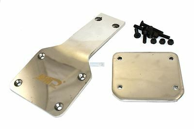 KM Stainless Steel Front Chassis protector RC Baja 001 5B 5T 2.0 3.0 Upgrade