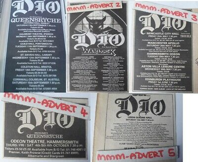 # DIO / QUEENSRYCHE - UK TOUR DATES 1984 original magazine advert small poster