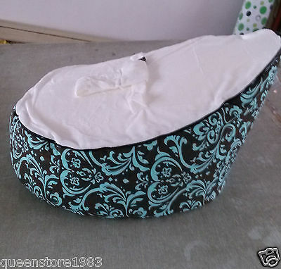 Canvas white Vine Baby infant Bean Bag Snuggle Bed Portable Seat NO Filling