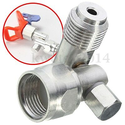 """7/8"""" F to 7/8"""" M Extension Pole Swivel Joint Adapter For Airless Paint Spray Gun"""