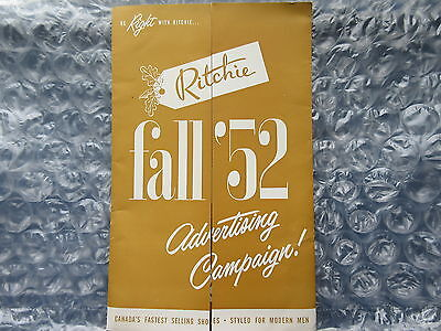 Old 1952 Ritchie Shoes for Men Advertising Campaign Folder