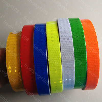 """Safety Caution Reflective Tape Warning Tape Sticker self adhesive tape 1"""" Width"""
