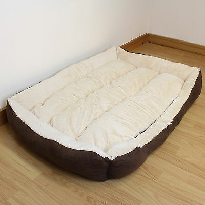 Super Soft Extra Large Cosy Washable Dog Bed Brown & Beige Pet/Puppy/Warm/Cosy