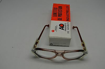 American Optical Safety Glasses 8056 Lens 56 Bridge 19 RED CLR  Steampunk