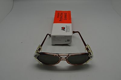 American Optical Safety Glasses 8056 Lens 56 Bridge 19 RED GRY Steampunk