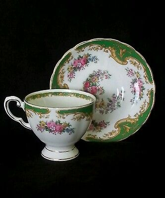 "Vintage Tuscan fine English bone china tea cup & saucer ""Naples"", circa 1950's"