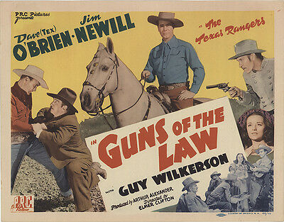 Guns of the Law 1944 Original Movie Poster Western
