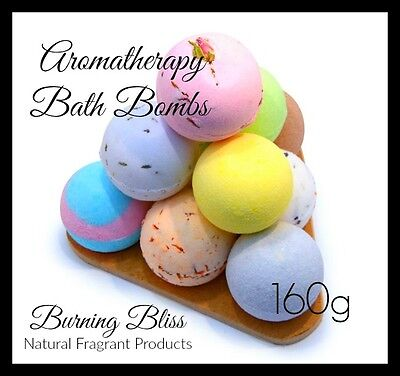 AROMATHERAPY BATH BOMBS with Coconut Oil, PURE,GENTLE & ADDICTIVE 160g