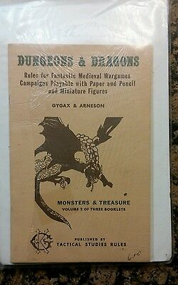 1974 Dungeons & Dragons Volume 2 by TSR, GYGAX & ARNESON