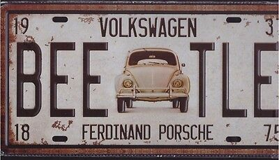 High Quality Reproduction Metal Sign Number Plate Volkswagen Porsche BEE TLE