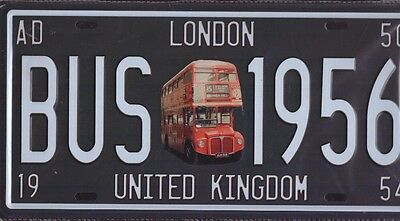 High Quality Repr.Metal Sign Number Plate LONDON Bus 1956 United Kingdom