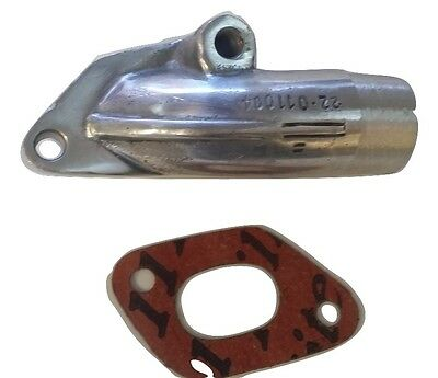 Lambretta 22Mm Polished Carburettor Inlet Manifold With Gasket New 150Cc Carb