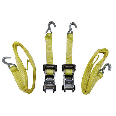 "2x Heavy-Duty 2"" x 14-Ft Ratchet Ratcheting Tie-Down Hook Cargo-Straps (2-Pack)"