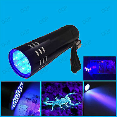 LED UV Black Light Torch, Ultra Violet, Gas Leak, Forensic Blood, Urine Detector