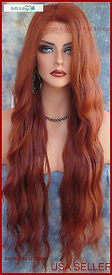 Lace Front Wig Wavy Long Wavy Color Gorgeous Red T33.130 New/tags Usa Seller 190