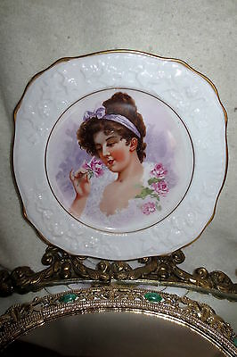 Antique Royal Stafford OLD ENGLISH OAK GOLD PORTRAIT Vintage Plate